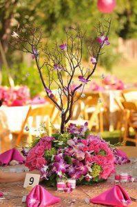 Arreglo floral para xv años ramas