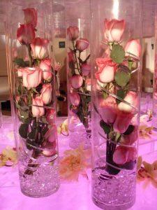 arreglo floral para xv años cilindros
