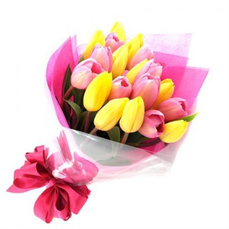 Ramo de 20 Tulipanes Florero GRATIS