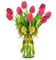 Arreglo Floral con 10 Tulipanes