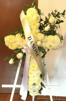 Cruz Fúnebre Elegante con Tripie