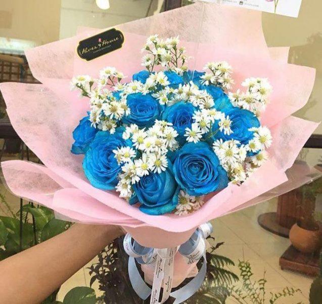 Ramo de 13 Rosas Azules