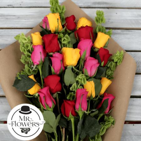 Ramo de 24 Rosas Mixtas