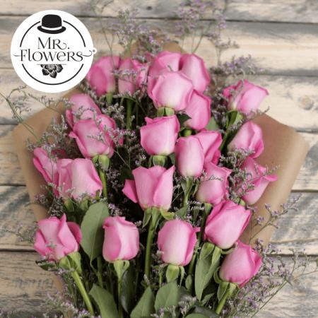 Ramo de 24 Rosas Rosa